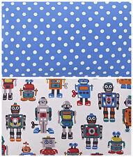 CAth Kidston 2 * 50cm square FQ bundle Robots & large spot teal lightweight new