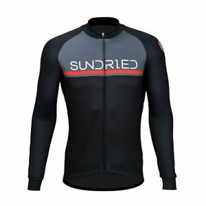 Sundried Men's Long Sleeve Cycling Jersey Road Bike MTB Bicycle Clothing
