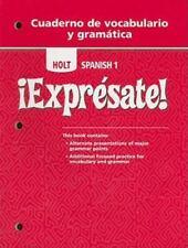 Exprsate!: Cuaderno de vocabulario y gramatica Student Edition Level 1 English