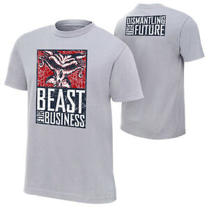 """Official WWE - Brock Lesnar """"Beast For Business"""" Authentic T-Shirt"""