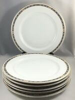 "Syracuse China OPCO MISTIC Blue 9 5/8"" Dinner Plates Set of 6"