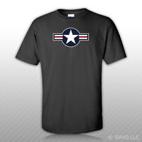 United States Air Force USAF Roundel T-Shirt Tee Shirt Free Sticker military