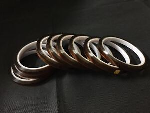 5Rolls 8mm 100ft BGA High Temperature Heat Resistant Polyimide Gold Kapton Tape