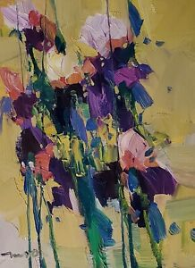 JOSE TRUJILLO Oil Painting IMPRESSIONISM CONTEMPORARY FLORAL FLOWERS MODERN ART
