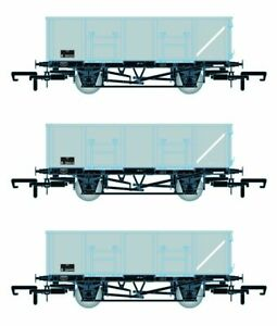 Accurascale ACC1081-MDOB BR 21T COAL21/MDO Mineral Wagon Triple Pack Grey Pack B