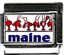 MAINE with LOBSTERS 9mm photo Italian charms for nomination link style bracelets