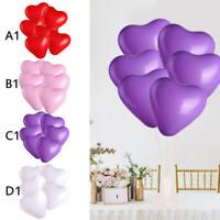 100Pcs Love Heart Shape Ballons Wedding Party Romantic Birthday Decor