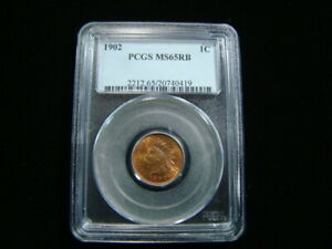 1902 Indian Head Cent PCGS Graded MS65RB