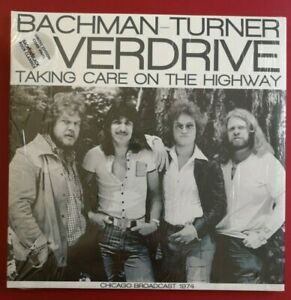 """BACHMAN TURNER OVERDRIVE - CLEAR VINYL """"Taking Care On The Highway"""" Live '74"""