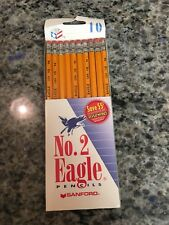 NOS Vintage 1998 SANFORD EAGLE No. 2 HB Pencils - USA Made 10 Pack