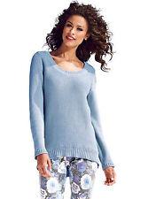 Grobe hüftlange Damen-Pullover mit Reißverschluss