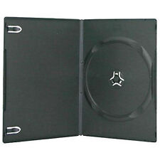25 X Single Slimline DVD Case Black 7mm Spine With Clear Front Cover Sleeve