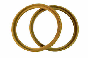 """1 Pair 12"""" MDF Wood Speaker Subwoofer Mounting Spacer Rings Recessed with Bezel"""