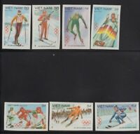 VIETNAM 1984 Winter Olympics #1351-1357 MNH Imperf Set