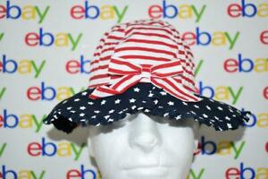 The Children's Place American Stars & Stripes Girls Bucket Hat Toddler S/M NWT