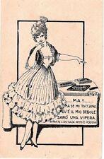 PUBBLICITARIA CIOCCOLATO BONATTI AL LATTE Illustratore ADV PC Circa 1920