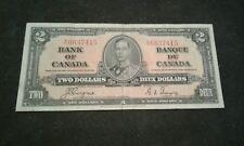 1937 $2 DOLLAR CANADIAN BILL NOTE
