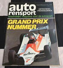 1979 ZANDVOORT DUTCH GP F1 RACE PROGRAMME AUTO RENSPORT ALAN JONES WIN SCHECKTER