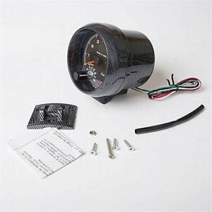 """3.75"""" Carbon Fiber style LED Car Tachometer 0-8000 RPM For 4/6/8 Cylinder 12V"""