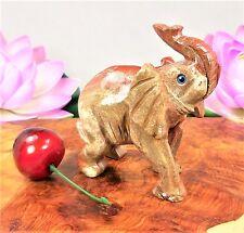 Elephant Figurine Soapstone Animal Carved Gemstone LR73 Healing Crystals Stones