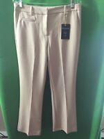 8556) NWT ZAC & RACHEL 8 beige straight leg mid rise dress pant ankle length 8