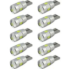 10pcs T10 501 194 W5W 5630 LED Car 6 SMD HID Canbus Error Free Wedge Light
