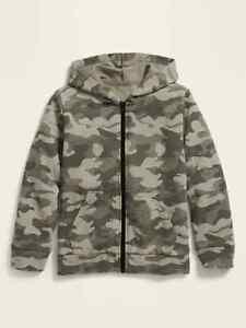 Old Navy Kids Camo Uniform Zip Hoodie ~ Boy Girl Zipper ~ Size S, M, L, or XL