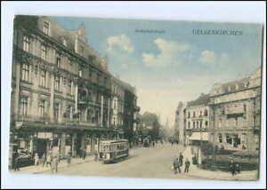 XX008091/ Gelsenkirchen Bahnhofstraße Straßenbahn 1915 AK