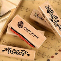 NEW Romantic Long Stamp Diy Wooden Rubber Stamps For Vintage Stationery Stamp Tw