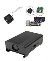 Black Aluminum Alloy Case Shell Enclosure Box + Fan for Raspberry PI 3 Pi 2 B+