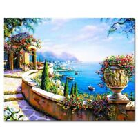 Canvas Wall Painting By Numbers Frameless Pictures DIY Oil Home For Living Room