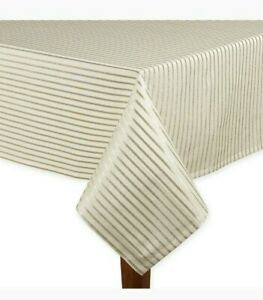 """kate spade new york Harbour Drive 60"""" x 84"""" Oblong Tablecloth in Gold Stripe"""