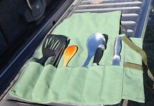 Premium Camping Cutlery,Utensil, Knife Roll. Australian made Australian canvas.