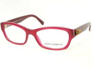 NEW D&G Dolce&Gabbana DG 3150 2681 OPAL RED EYEGLASSES GLASSES FRAME 52-17-135mm