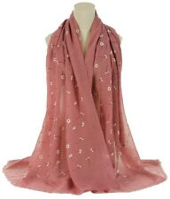 Daisy Floral Print Large Celebrity Fashion Scarf Wrap Shawl Maxi Sarong (Emb)