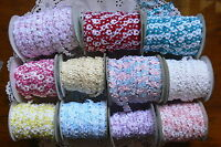 Floral Shimmering Ribbon - 13mm wide - 3 Metre Lengths - 12 Colour Choice CLD5/6