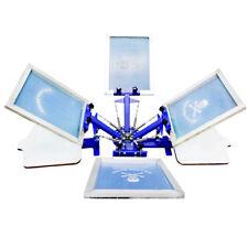 Screen Printing 4 color 2 Station Press Machine Rotary Printer 90 Degree Press