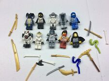 LEGO Ninjago Minifig Lot of 10 MINIFIGS Skeletons Lloyd Weapons Lot T479B