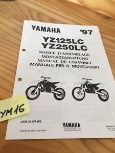 Yamaha YZ125LC YZ250LC 1997 YZ Manual Preparation Instalacion Manual Montaje