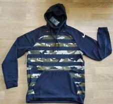 Nike Mens Dri-Fit Pullover AOP Training Hoodie Size XXL Black/Camo MSRP $55