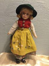 "Reinart Faelens German 17"" Porcelain Doll Rf Kollektion Braided Blond Hair"