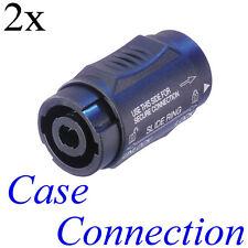 2x NEUTRIK NL4MMX Speakon Verbinder - 4polig # 4 pol speaker connector