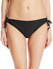 Nautica Women's Signature Tunnel Side Bikini Bottom Black SZ 14