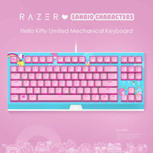 RAZER x Sanrio Hello Kitty Mechanical Keyboard wired gaming keyboard 87 keys