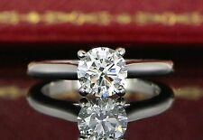 $24500 Cartier Platinum GIA 1.15ct G VVS1 Round Diamond Engagement Ring #51 5.75