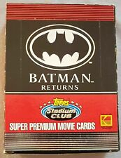batman returns super premium movie trading cards - box 1992. Brand