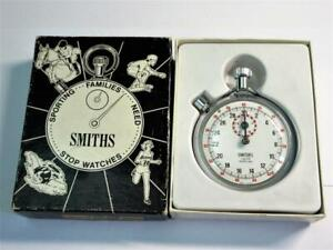 Vintage SMITHS 1/10th Second POCKET STOPWATCH - VGC,  Fully Working - Boxed!