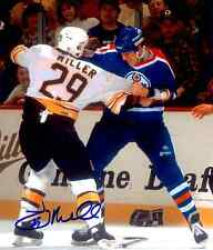 Boston Bruins Jay Miller Autographed 8x10 Fighting Photo