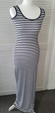 Boohoo Ladies Navy Stripped Maxi Dress UK 8 EUR 36