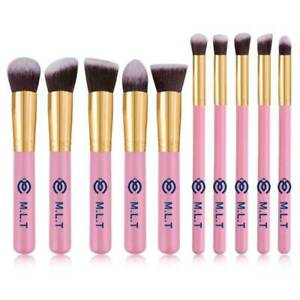 Make up Brushes  High quality synthetic soft 10 pcs